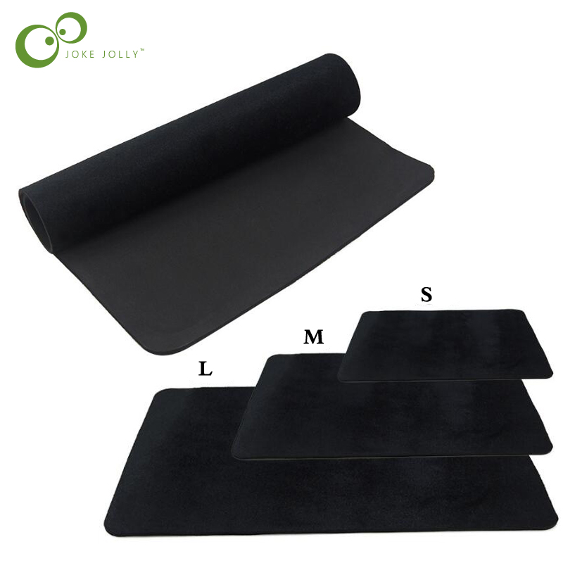 3 Sizes Black Professional Poker Card Deck Mat Pad Close Up Magic Tricks Magician Props Toy Coin Illusion Magic WYQ