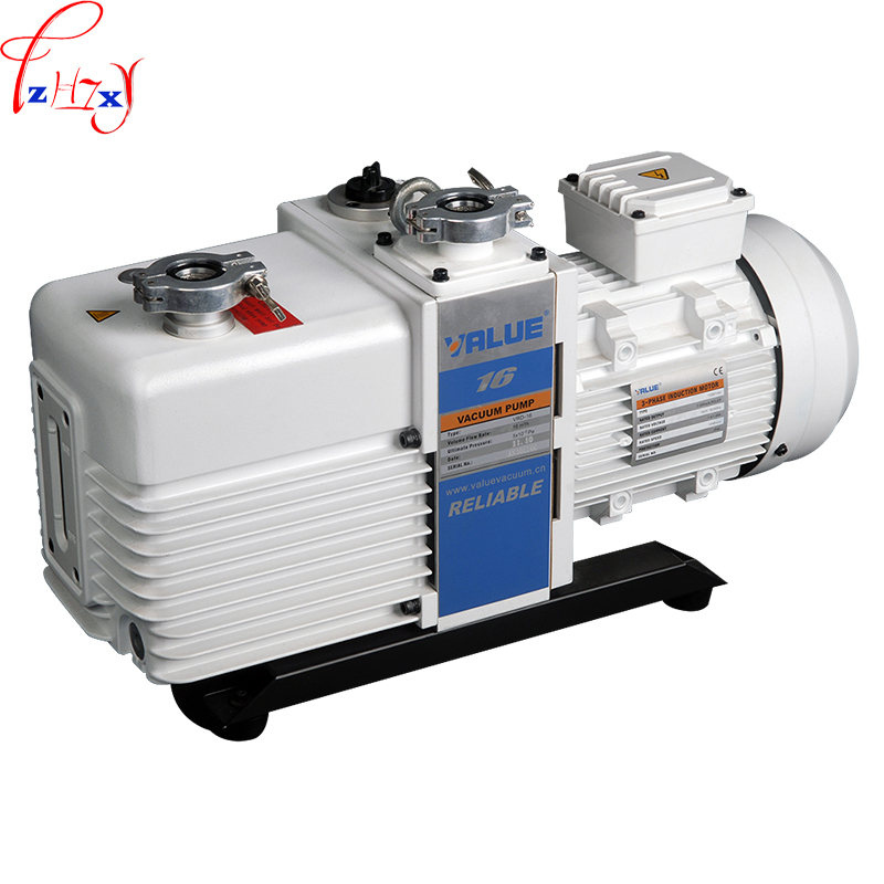 Two-stage rotary vane vacuum pump VRD-16 integral  oil pump electric double-stage rotary vane vacuum oil pump 220/380V manka care 110v 220v ac 50l min 165w small electric piston vacuum pump silent pumps oil less oil free compressing pump