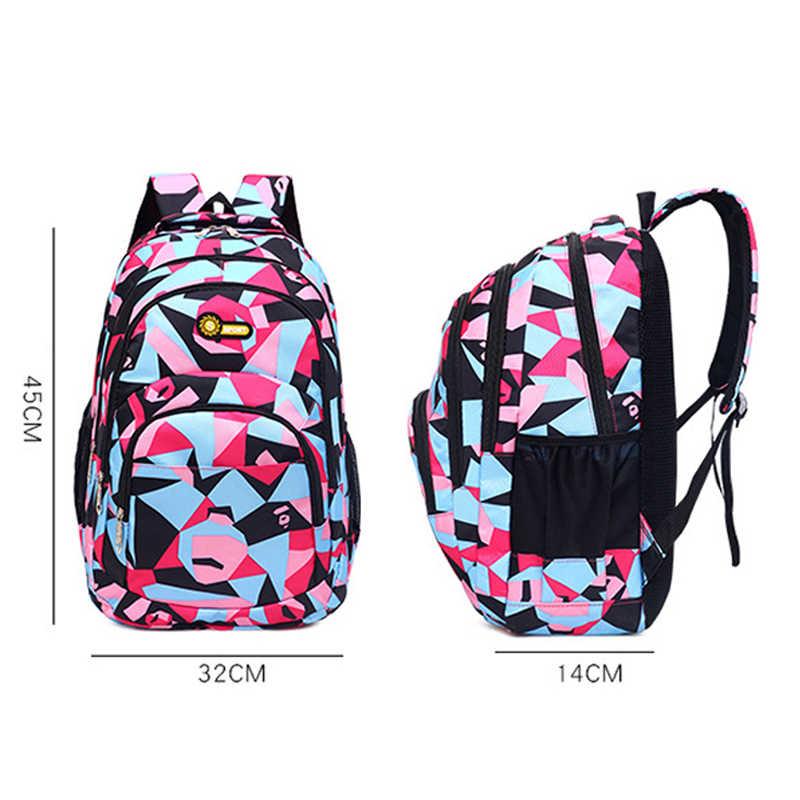 ZIRANYU New Children School Bags for Teenagers Boys Girls Big Capacity School Backpack Waterproof Satchel Kids Book Bag Mochila