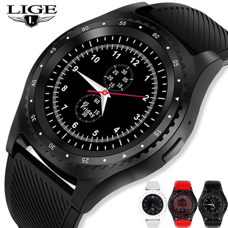 Reloj inteligente LIGE nouvelle mode montre intelligente hommes femmes Bluetooth écran tactile étanche Sport Fitness montre Support carte SIM