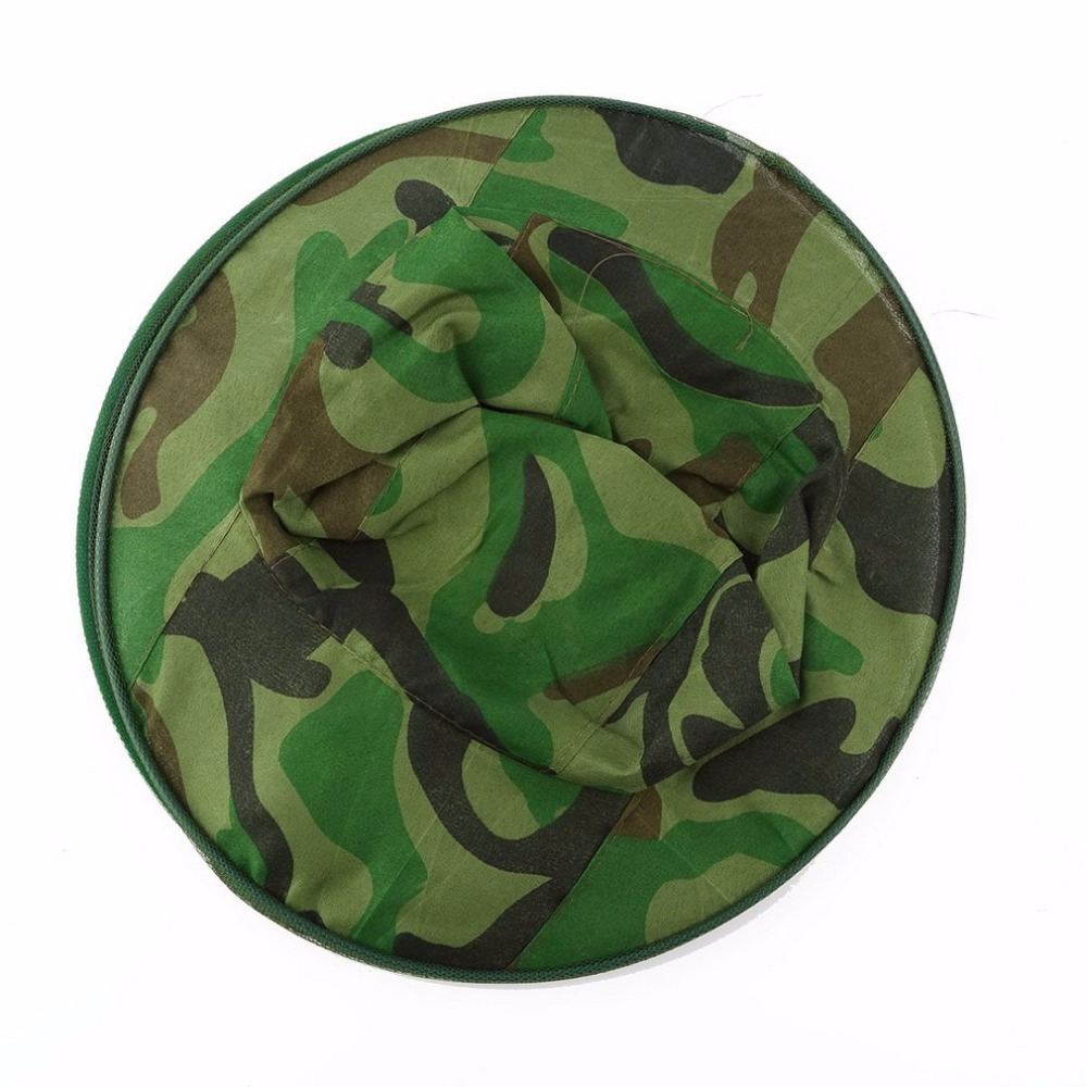 Camo Hat Gauze Elasticated Neck Mosquito Bug Insect Bee Resistance Sun Net Mesh Head Face Protector Hat Cap Men Women Fishing