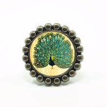 Flower Shape Peacock Knobs Drawer Knobs Bronze / Crystal Dresser Knobs  Cabinet Handles Pull Knob Ornate / Furniture Hardware