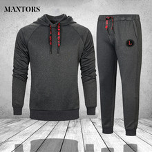 Sportswear Fitness Tracksuit Men Hoodies Sets New Brand Casual Mens Clothing 2 PC Sweatshirt+SweatPants Outwear Track Suit Male(China)