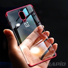 Silicone Case For OnePlus 7 Pro OnePlus7 One Plus 6 6T 7Pro Case Transparent Plating Soft TPU Bumper Case