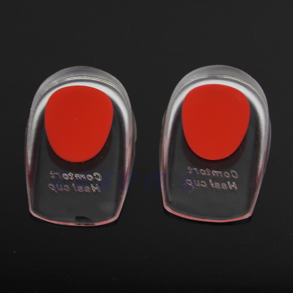 Men/Women Heel Pain Spur Silicone Gel Shoes Pads Cushion Heel Cup Insoles Massager Inserts High Quality Gift For Friends