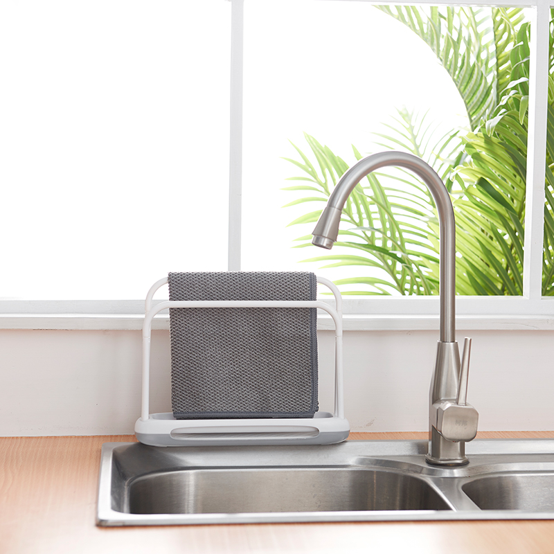 050 Kitchen towel rack Simple water absorption and quick drying diatom mud double pole cloth rack rag rack 25 3 7 2 19 6cm in Towel Bars from Home Garden