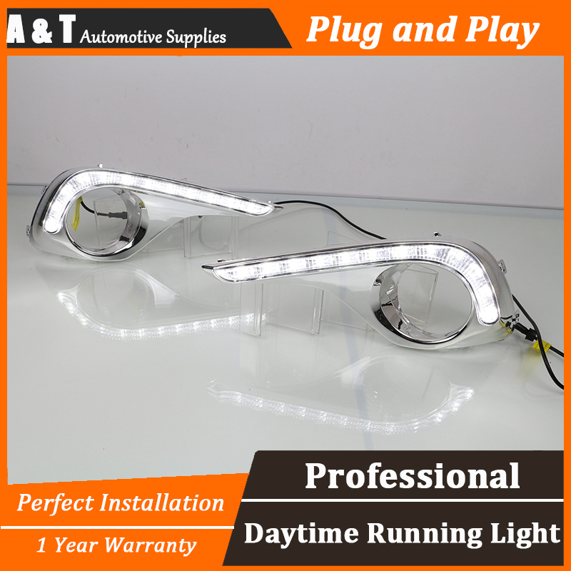 car styling For Toyota Highlander LED DRL For Highlander led fog lamps led daytime running lights High brightness guide LED auto clud car styling for toyota highlander led drl for highlander high brightness guide led drl led fog lamps daytime running l