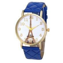 0cbba4f5ffd 2018 relogio feminino relógio Do Vintage Retro Paris Torre Eiffel Relógio  Analógico de