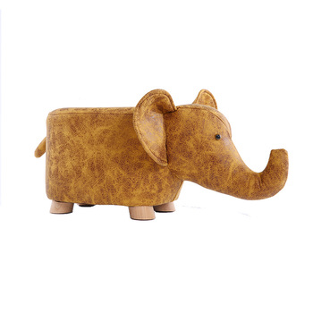 Factory pin  originality solid wood  change ones shoes Cartoon animal footstool  Household Cow stoolThe elephant sofa