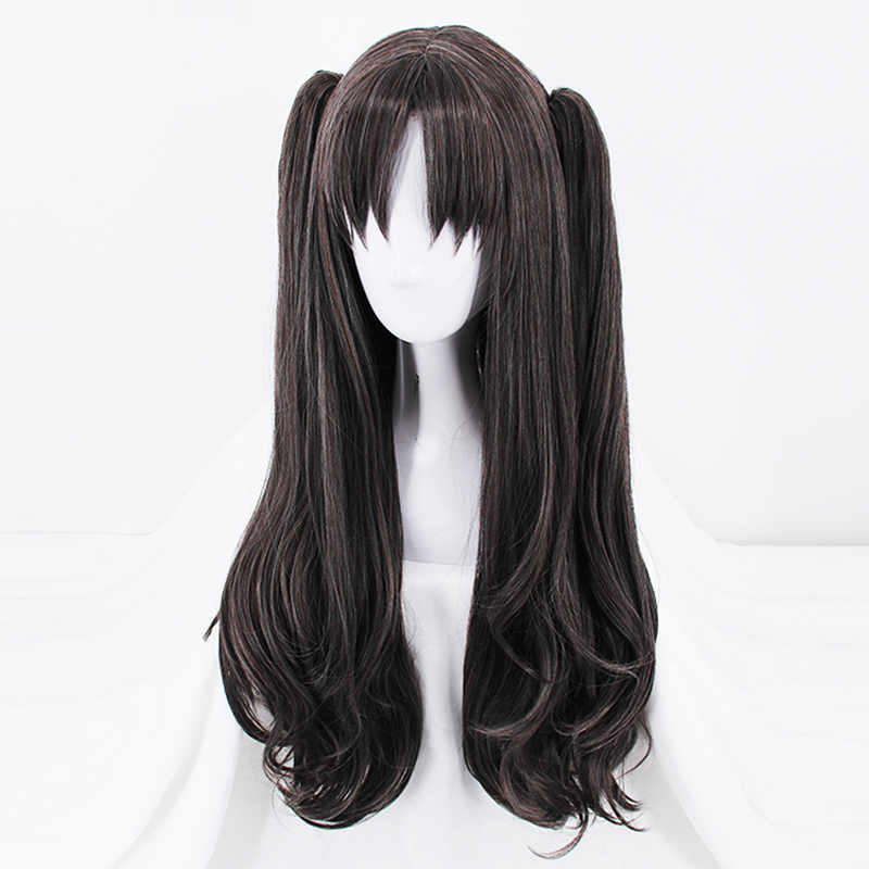 Image 2 - Fate/Stay Night Rin Tohsaka Two Ponytails Wig Cosplay Costume Fate Grand Order Women Long Synthetic Hair Halloween Party Wigs