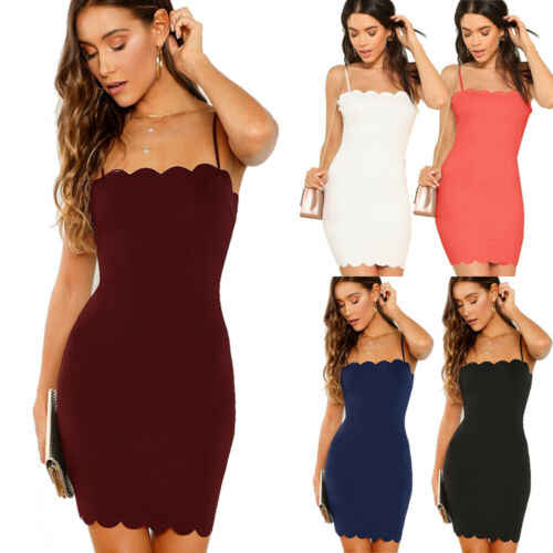 NEW Women Summer Bodycon Sleeveless Evening Party Cocktail Club Short Mini Dress