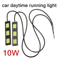 New Arrival 2 Pieces 12V Daytime Running Light 3 LED DRL Daylight Head Lamp Car Styling
