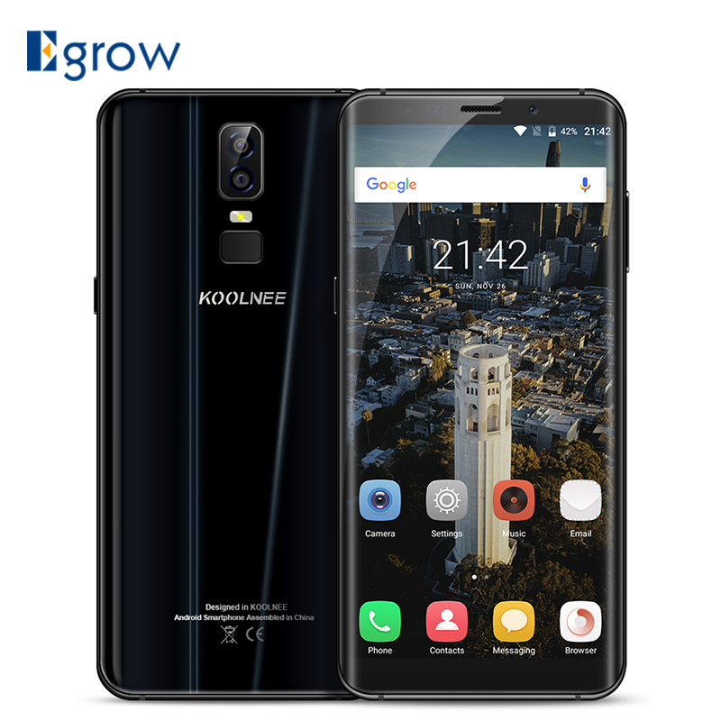 "Koolnee K1 6.01"" 4G Smartphone MTK6750T Octa Core Android 7.0 4GB RAM 64GB ROM 3190mAh 16MP Dual Back Camera Fingprint Cellphone"
