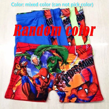 4pcs/lot New spiderman Girls and Boys Underwear Boxer Cueca 2-11 Year Kids Baby Cartoon Panties Children wholesale