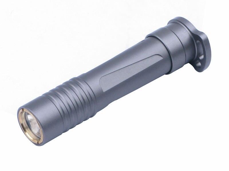High Hardness Anodic Oxidation CREE R2 LED 1 Mode Mini Flashlight torch / Key chain lights (1 * AAA Battery) - Titanium grey