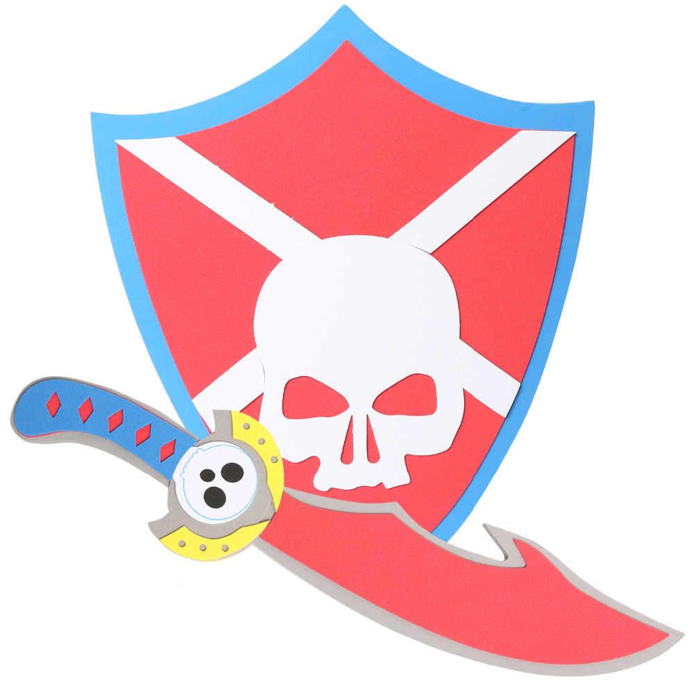 4 шт. фигурки ассорти EVA пены мечи и щиты воин книги об оружии игрушка модель игрушки набор для ролевых игр для малыша пират Викинг