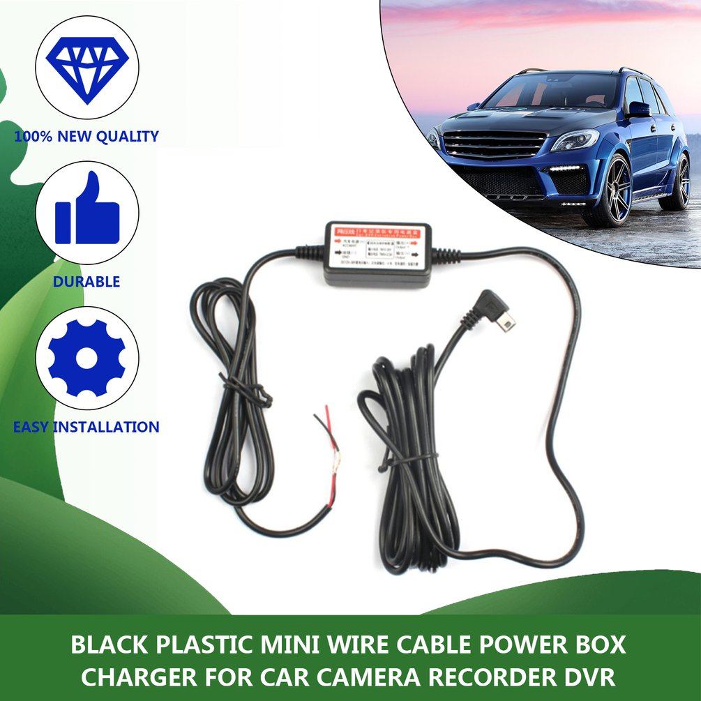 <font><b>Car</b></font> dash DVR power supply box dedicated vehicle traveling data Driving recorder <font><b>charger</b></font> 12 v - 24 v to 5 v step-down <font><b>module</b></font> image