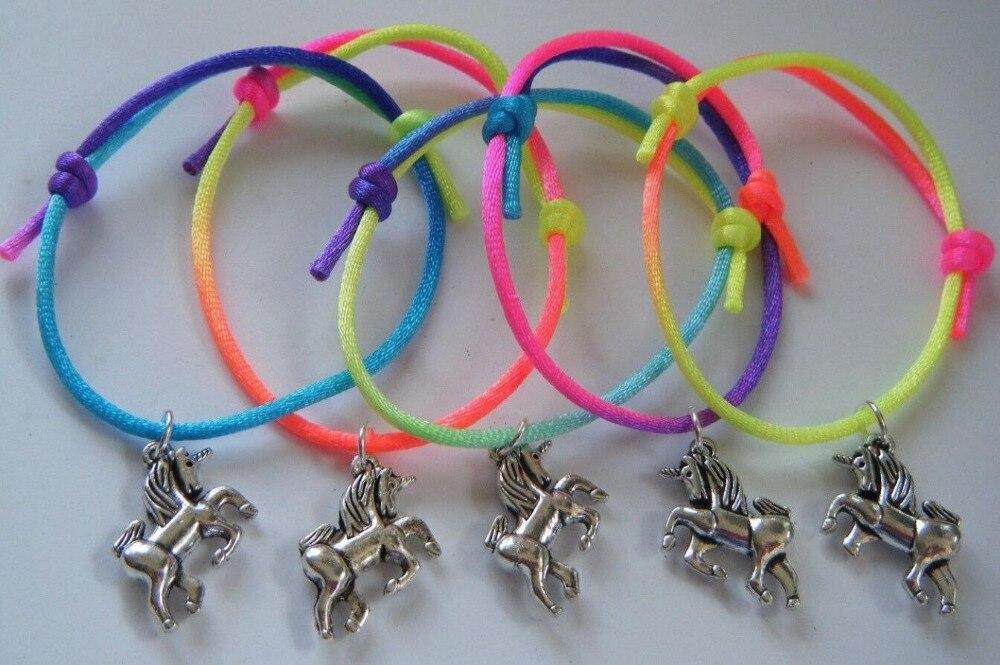 Unicorn Bracelets For Women Rainbow String Charms Horse Bracelet Fashion Jewelry Friendship Bracelets Party Gift Accessories NEW