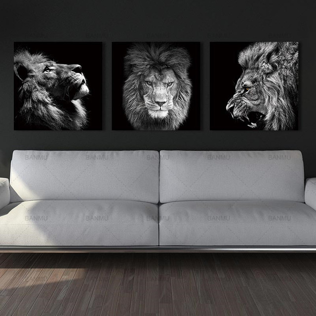 Animal lion art prints Wall Art Pictures Canvas Painting  1