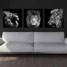 Animal lion art imprime mur Art photos toile peinture abstraite toile affiche peinture décoration pour salon art photo(China)