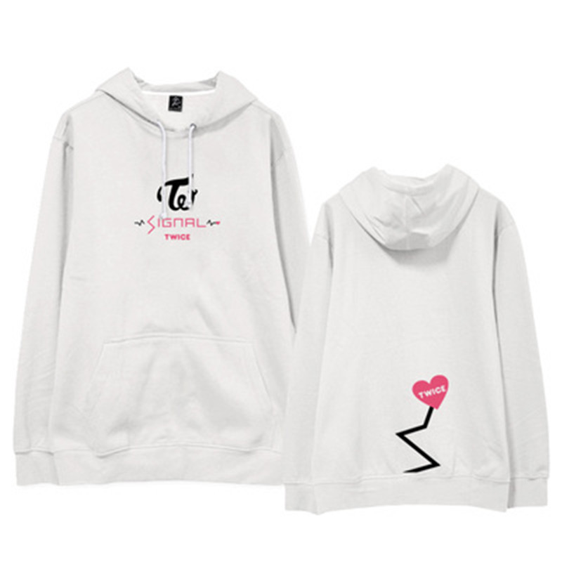 Kpop TWICE album SIGNAL same autumn winter loose men and women fashion hooded sweatshirts korean lovers Casual Harajuku hoodies