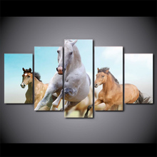 Framed Printed Combination horse series Painting Sitting Room Decor Print Poster Picture Canvas Home Decoration