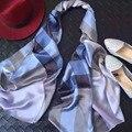 QsSize 65 СМ * 175 см 5 цвет сетки напечатан длинный Шелковый платок шелк жоржет сатин шарфы