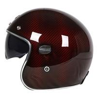 TORC Vintage Half Open Face Motorcycle Helmet ECE Carbonfiber Retro Motorbike Helmets Moto Casque Casco Motocicleta