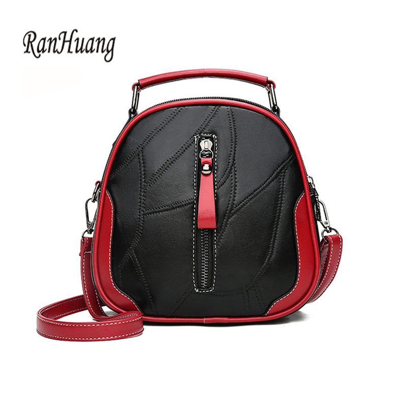 Ranhuang Fashion Women Genuine Leather Shoulder Bags Female Small Bags School Bags For Teenage Girls Cute Shoulder Bags