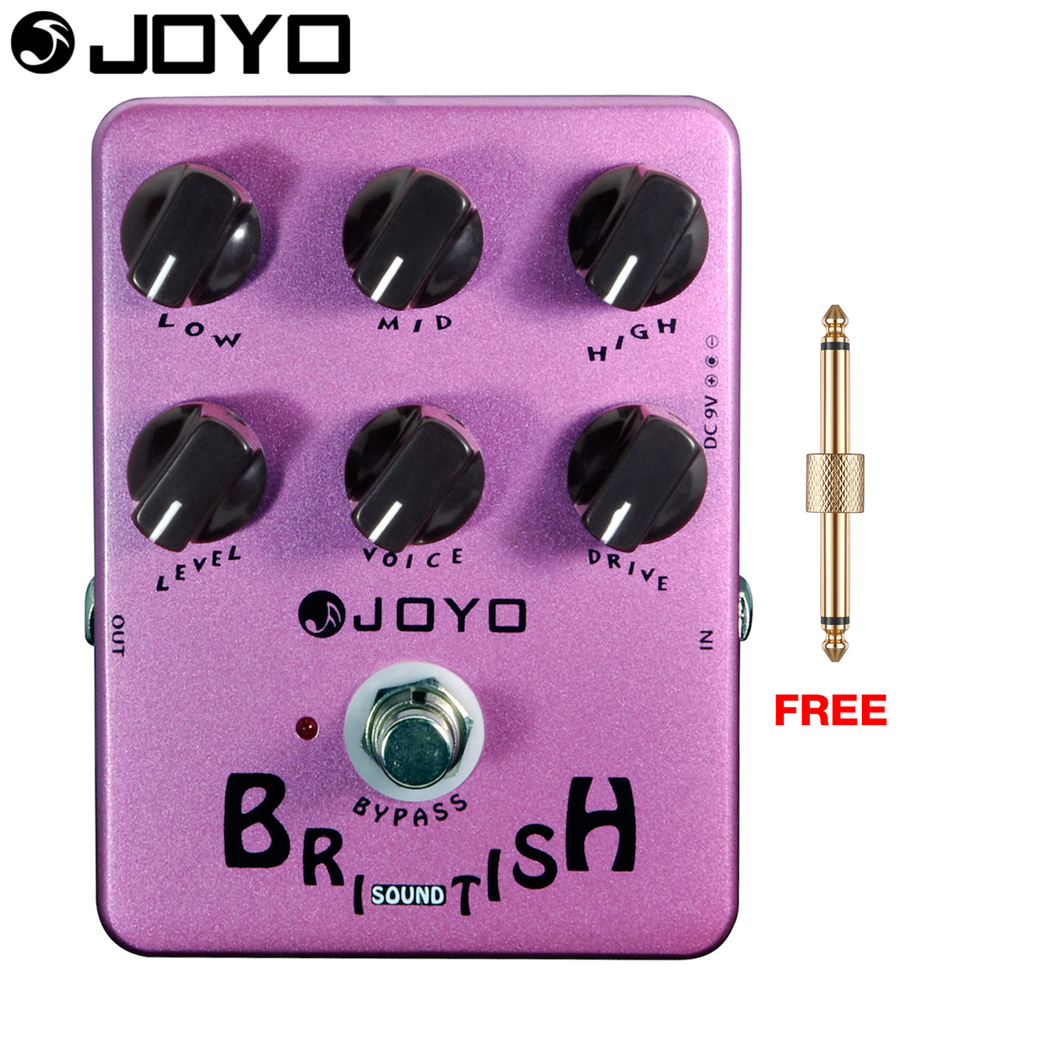 JOYO British Sound Overdrive Electric Guitar Effect Pedal All Analog True Bypass JF-16 with Free Connector aroma adr 3 dumbler amp simulator guitar effect pedal mini single pedals with true bypass aluminium alloy guitar accessories