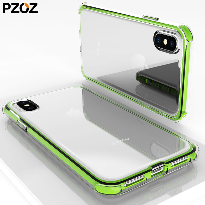 Pzoz for iphone x 7 8 7plus 8plus case luxury shockproof silicone accessories for apple iphonex casing bumper phone accesorios ...