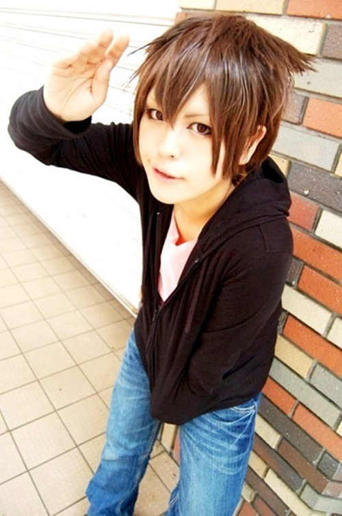 MCOSER nouvelle COOL amour Sekai ichi Hatsukoi Yukina Kou courte perruque Cosplay brun clair