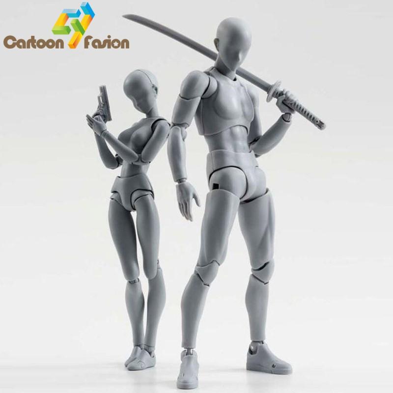 2 Style Body Chan Pale Gray Color 14cm Figma Bandai SHF Ferrite PVC Action Figure Figma (12)
