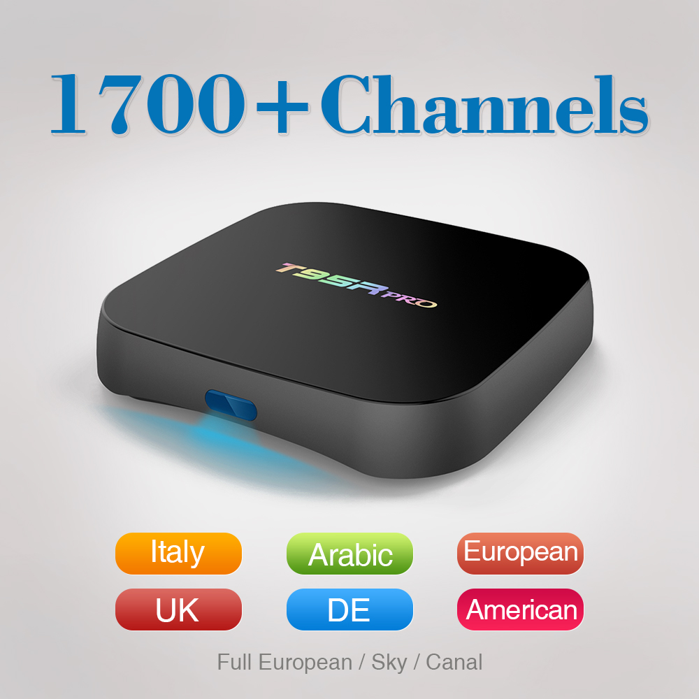 2017 Europe Arabic IPTV Box Sports Movies Canal Plus 1700 Free Iptv Subscription Italy French UK Russia Smart Set Top Box