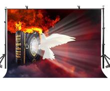 7x5ft Peace Dove Backdrop Burning Contract Destroying Theme Photography Background and Studio Props