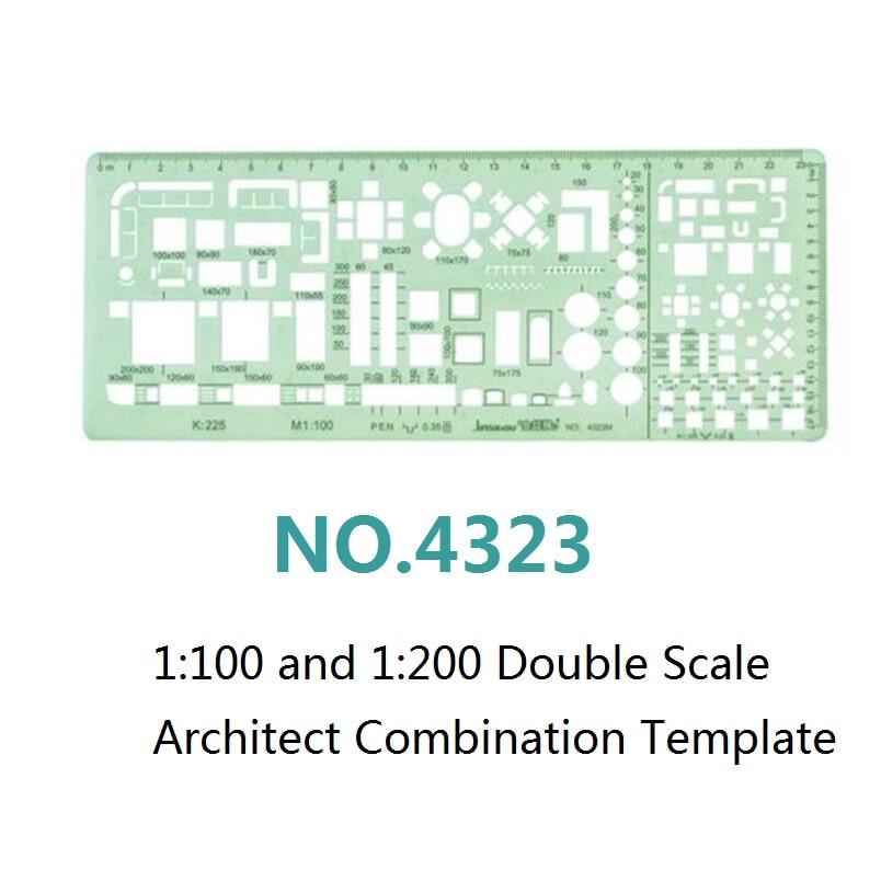 1: 100 en 1: 200 Sjabloon met dubbele schaal Architect Combinatie - School en educatieve benodigdheden - Foto 2