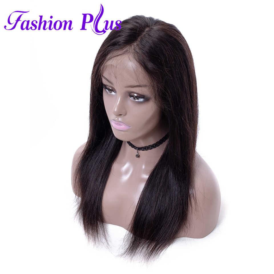 Pełna peruki typu lace z ludzkich włosów dla czarnych kobiet prosto brazylijski peruki Remy włosy bielone węzłów 150% gęstości pełne koronkowe peruki dla kobiet