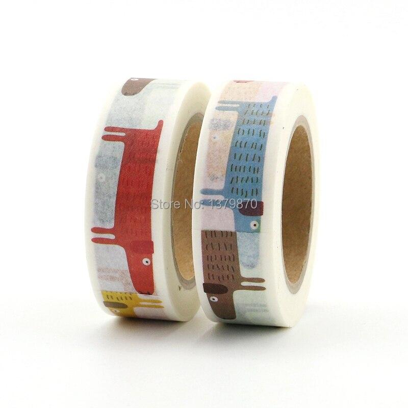 15mm*7Meters Washi Tape Diary Scrapbook Adhesive Masking Paper Crafts Decor DIY