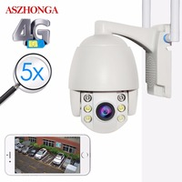 3.3 Inch Mini 3G 4G PTZ IP Camera 1080P 2MP IR Night Vision Speed Dome CCTV Camera Outdoor Waterproof Security Surveillance Cam