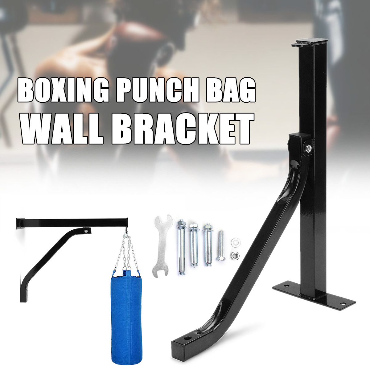 Heavy Duty Punch Bag Wall Bracket Steel Mount Boxing Hanging Stand Hanger
