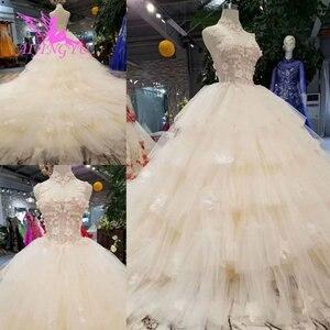 Image 4 - AIJINGYU Simple Dresses Wedding Gowns Cheap Design Light Ball Russian Queen Sexy White Queen Websites Bridal Dress Design