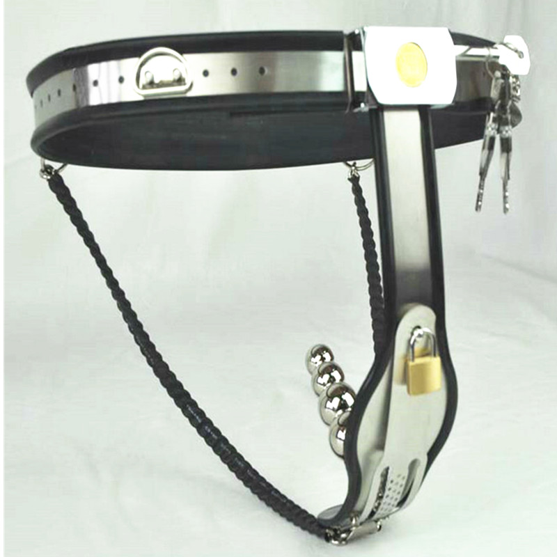 Female Chastity Belt with Removable Anal Bead Plug Master Chastity Belt Female Restraint Device Sex Toy for Women G7-5-10 ремень на пояс sinful black restraint belt large черный