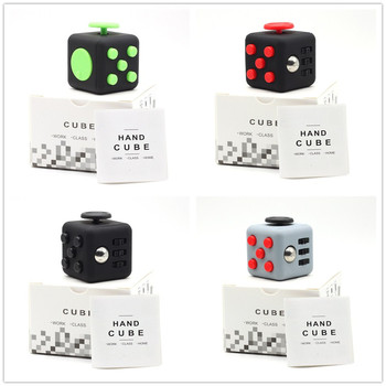 2017 Hand Spinner Fidget Cube With Button Anti Irritability Toy Stress Relief for Adults and Children 12 Fidget Vinyl Desk Toy