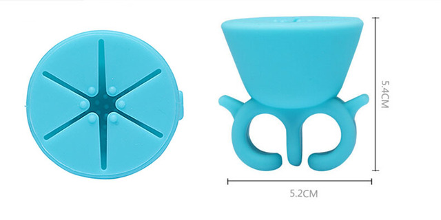 1PCS/ Durable Carrying Bracket, Nail Tool Salon, Nail Polish Bottle Ring Design Silicone Case, Multicolor Decoration Tool