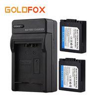 Goldfox 2x 1500mAH CGA S006E S006E Battery For Panasonic Lumix DMC FZ7 FZ8 FZ18 FZ35 FZ28