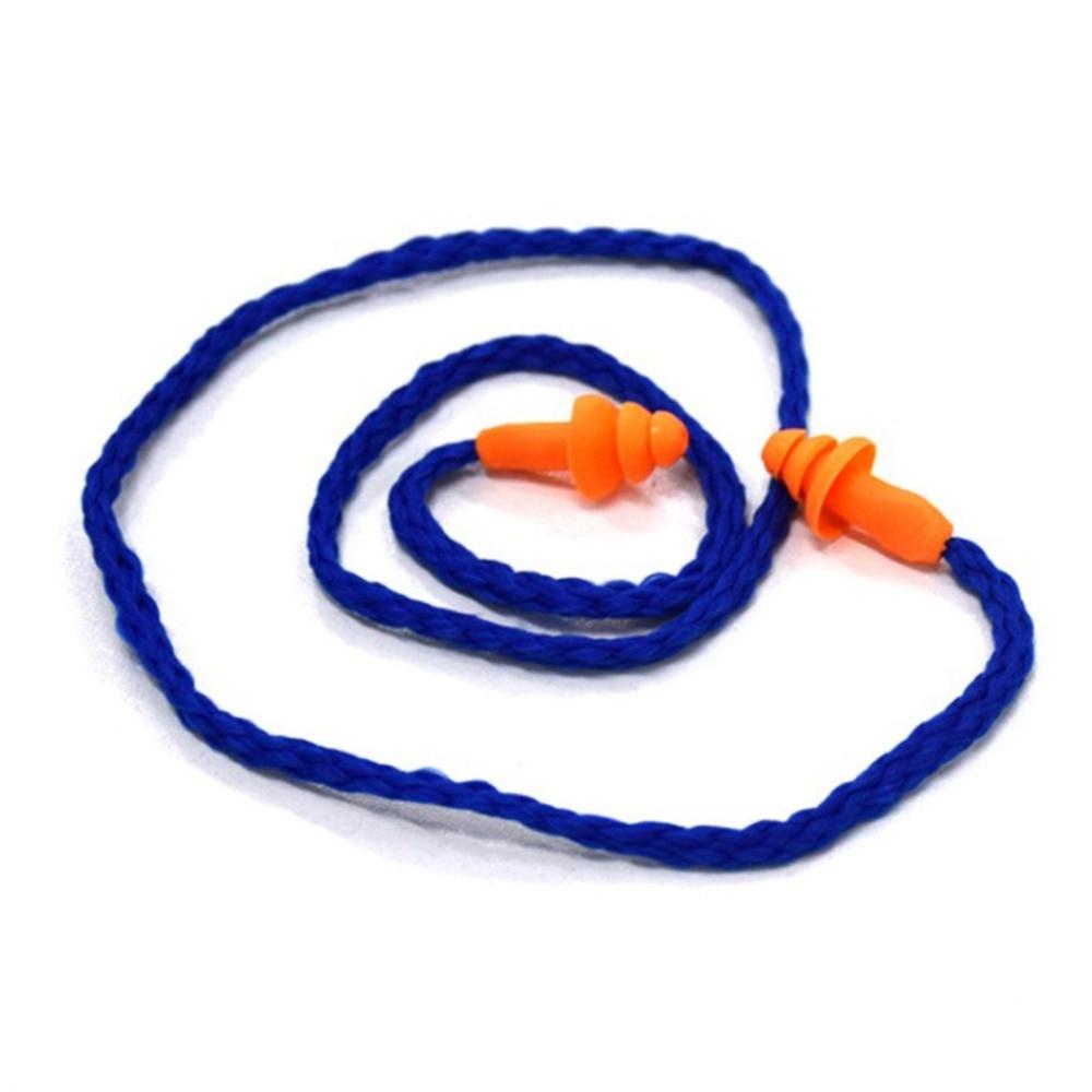 1/10pcs Soft Silicone Corded Ear Plugs Ears Protector Reusable Hearing Protection Noise Reduction Earplugs Earmuff