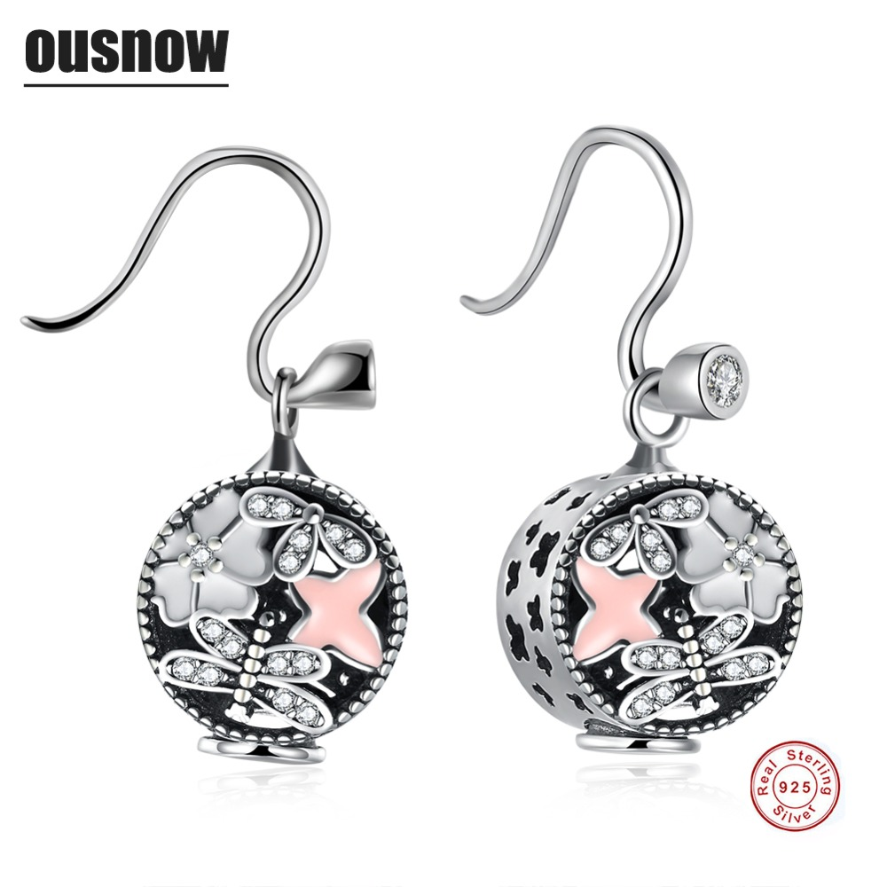 Ousnow Classic Fashion Jewelery Womens Earrings 100% Sterling Silver Round High Quality Womens Earrings the most attractive