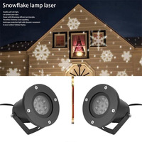 Mini Holiday Decoration Waterproof Outdoor Indoor Moving Snow Laser Projector Lamps Snowflake LED Stage Night Light