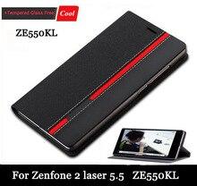 Новое поступление флип кожаный чехол для Asus ZenFone 2 лазерная ZE550KL ZE551KL 5.5 дюймов задняя крышка чехол + подарок бесплатная
