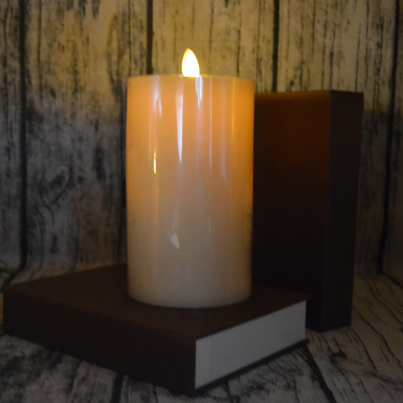 6 inch led wax flameless candle with timer famous flat top classic vanilla scented perfect for - Flameless Candles With Timer